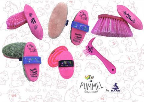 Haas Pummelfee Bürsten-Set Putz-Set 6teilig, pink