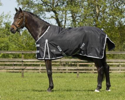 QHP Turnout Regendecke Regen Decke Luxus ohne Füllung, schwarz